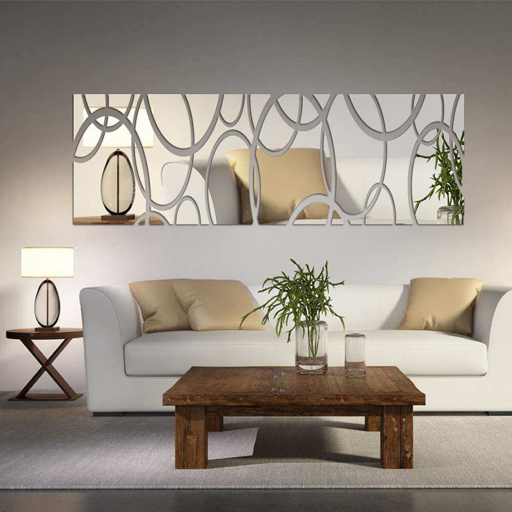 Acrylic Mirror Wall Decor Art 3D DIY Wall Stickers Living