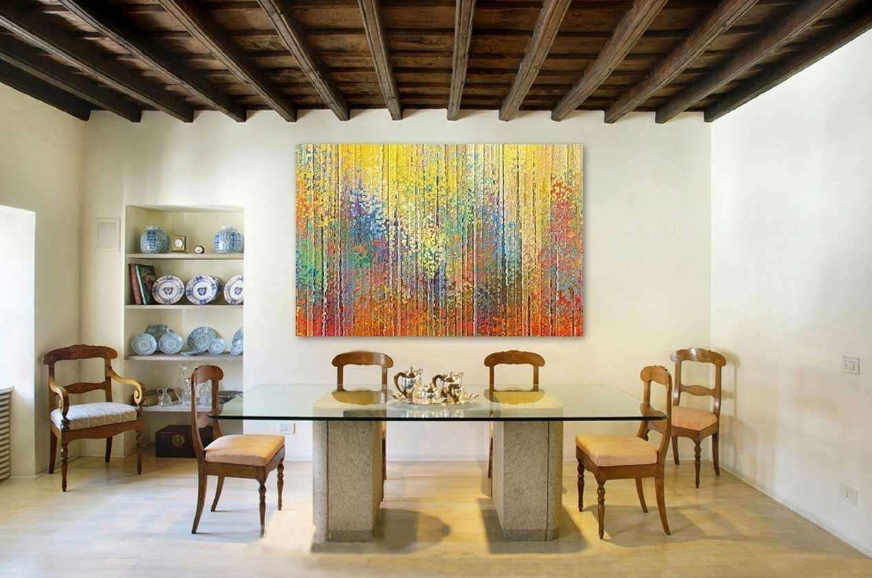 Wall art for dining rooms large abstract canvas
