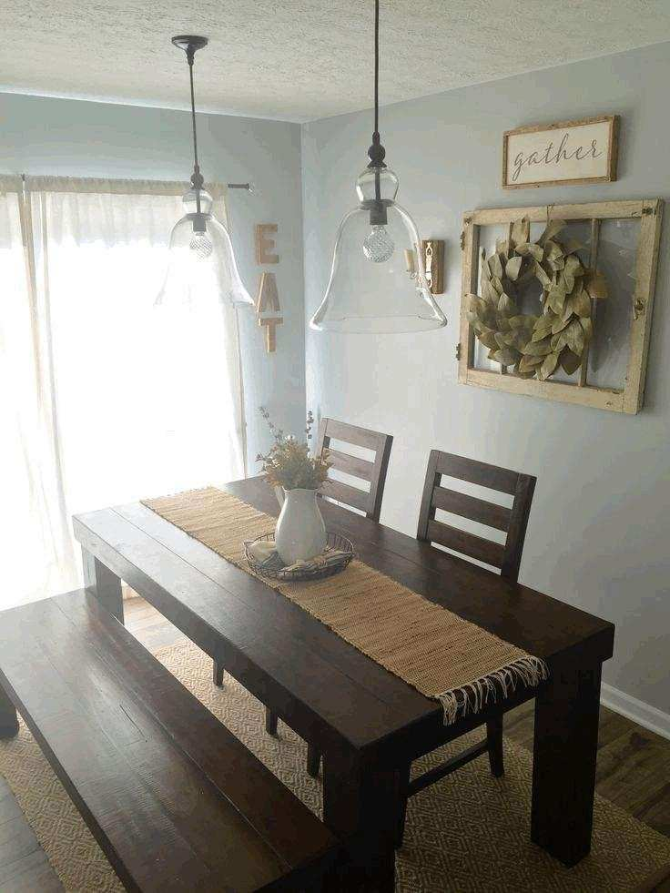Dining Room Wall Decor With Artwork And Ornate