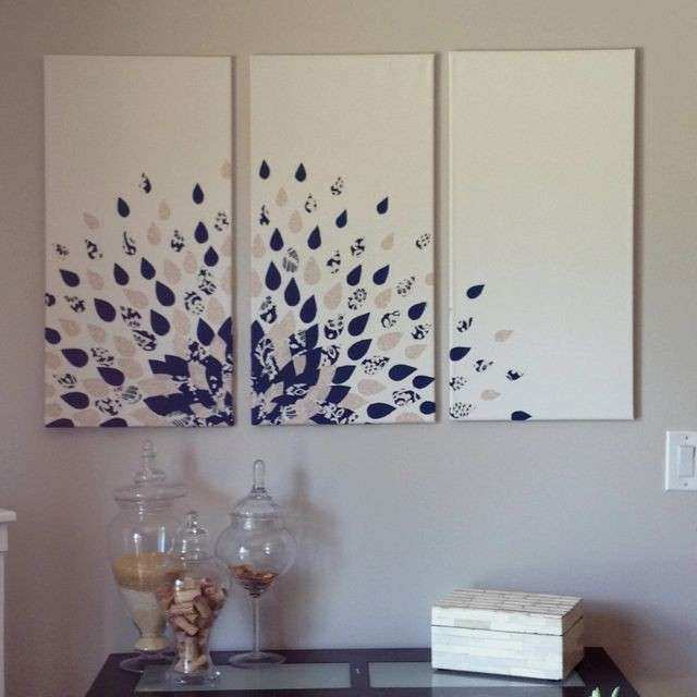 Diy Wall Craft Ideas DIY Canvas Wall Art Ideas DIY Wall