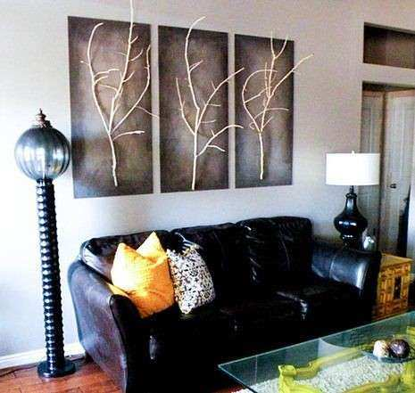 Do it yourself 3D wall art Trees and leaves