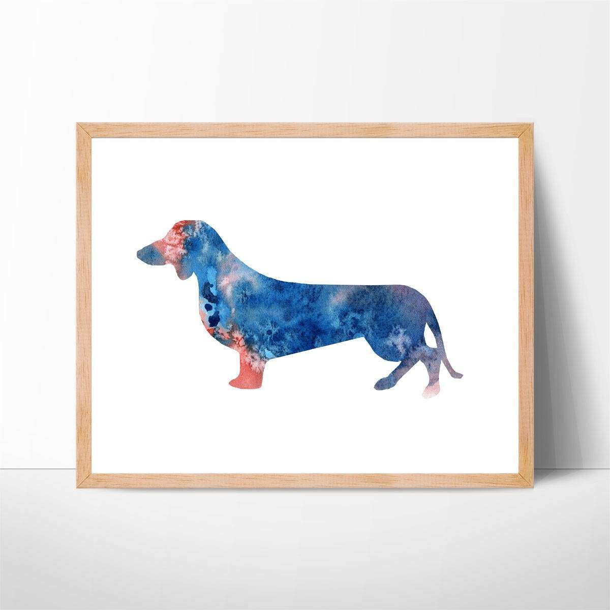 Watercolor Dachshund Art No 1 Dachshund Print Dachshund