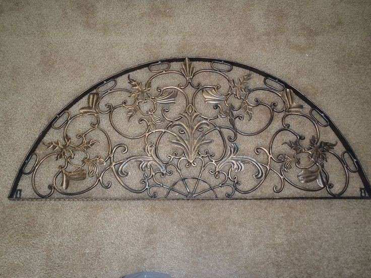 Door Wall Decor Beautiful Half Moon Arch Rustic Architectural Wall Garden  Iron Over