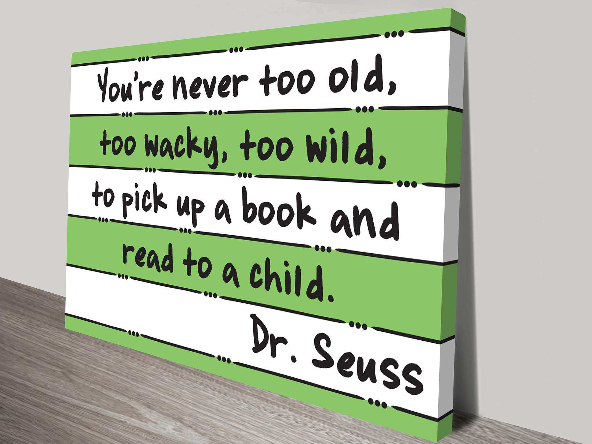 Dr Seuss Read Artwork on Canvas