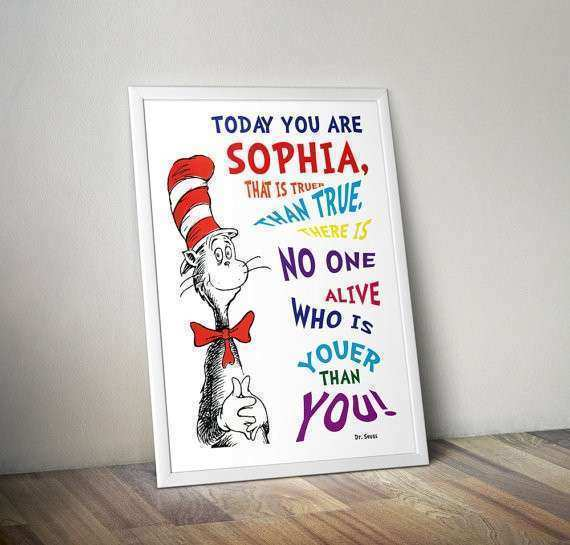 Dr Seuss Quotes Digital Wall Art Printable by Printcipia