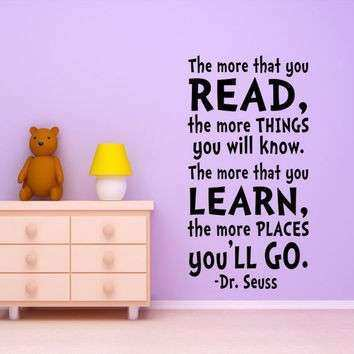 Great Dr Seuss Wall Art Quotes New Kids Wall Art Dr Seuss Quote Wall Decal From  Happy