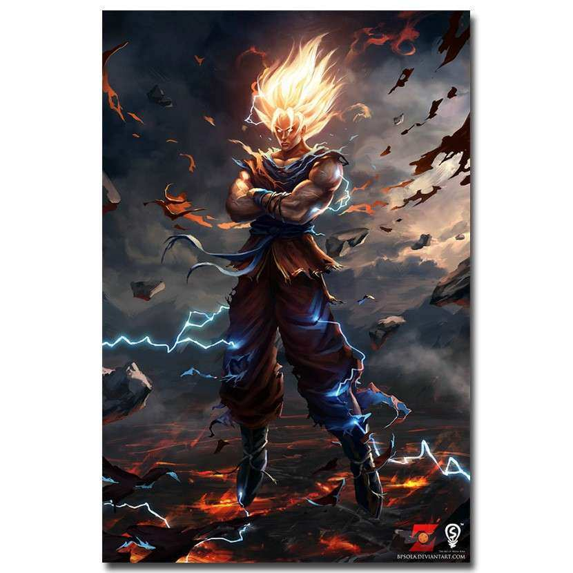 Dragon Ball Z Poster Goku Super Zeiya Anime Art Silk Wall