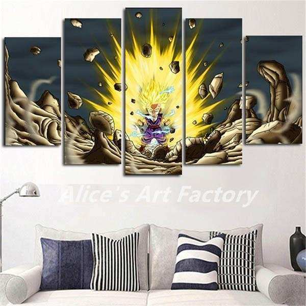 DRAGON BALL Z SUPER SAIYAN WALL CANVAS – Anime Gears