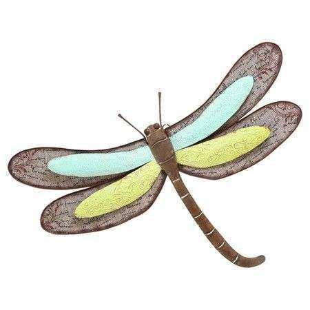 Scrapbook Dragonfly Décor in Brown by Woodland Imports