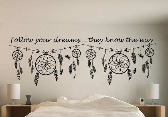 Dream Wall Decor Best Of Dream Catcher Quote Wall Art Decal