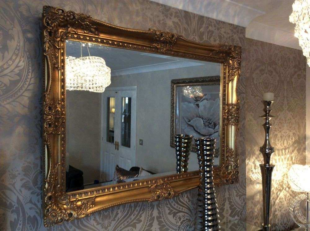 Ebay Wall Mirror Decor Lovely X Large Antique Gold Shabby Chic ...