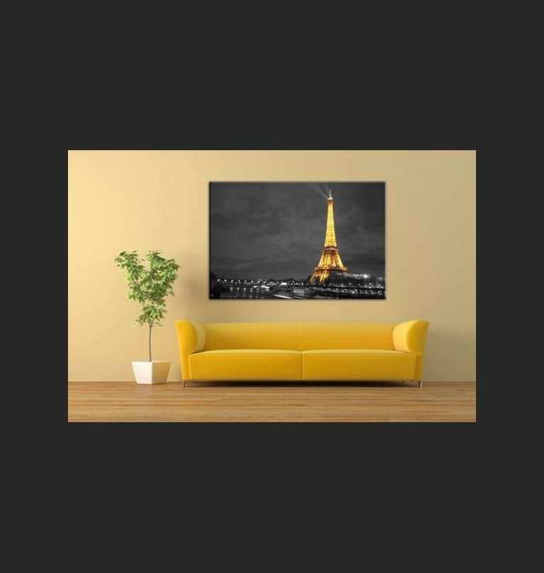 Eiffel tower Wall Art Fresh Paris Wall Art Canvas Print Illuminated ...
