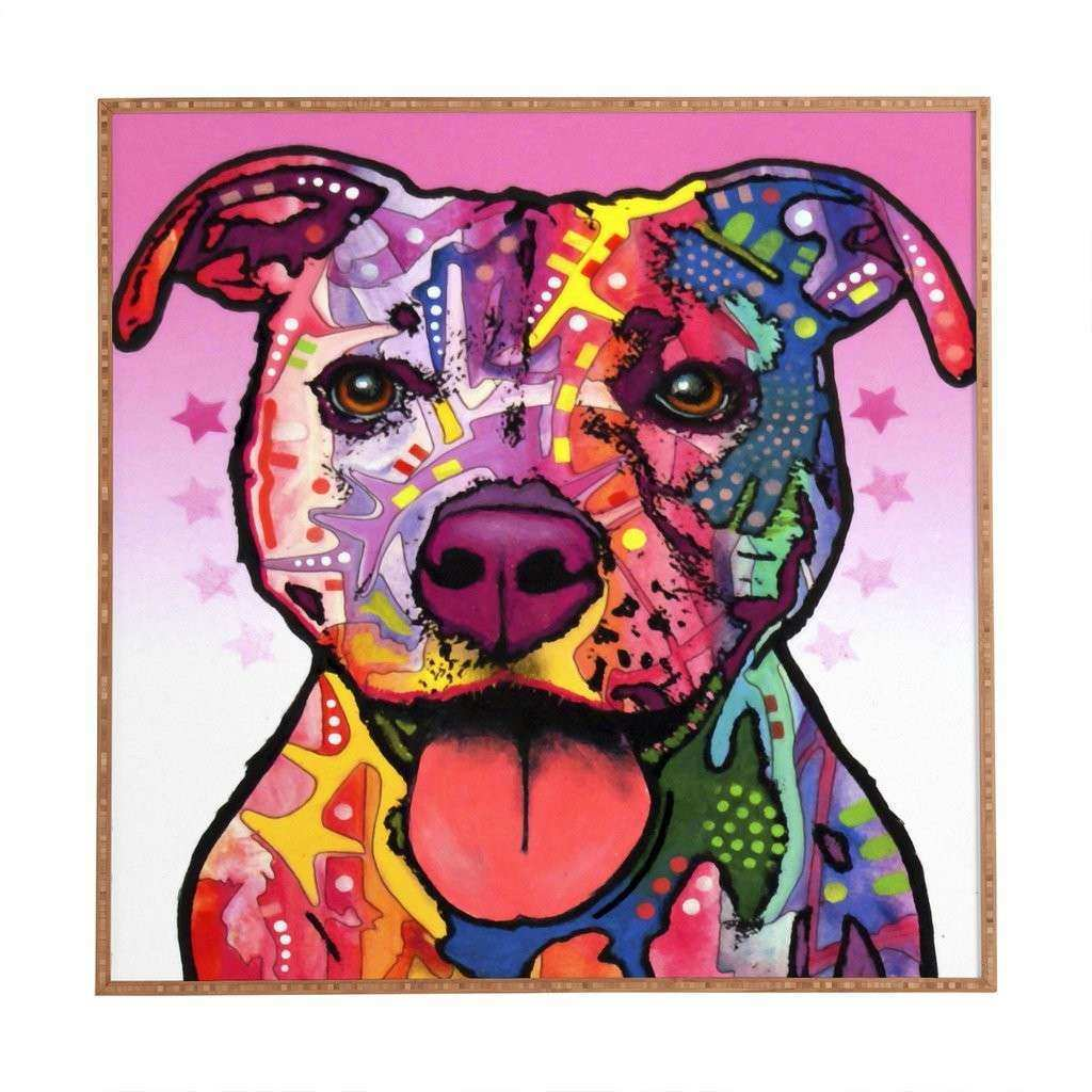 Epic Pitbull Wall Art 72 About Remodel Best Wall Art For