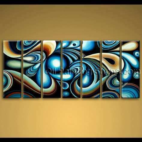 extra large wall art colorful abstract oil painting on