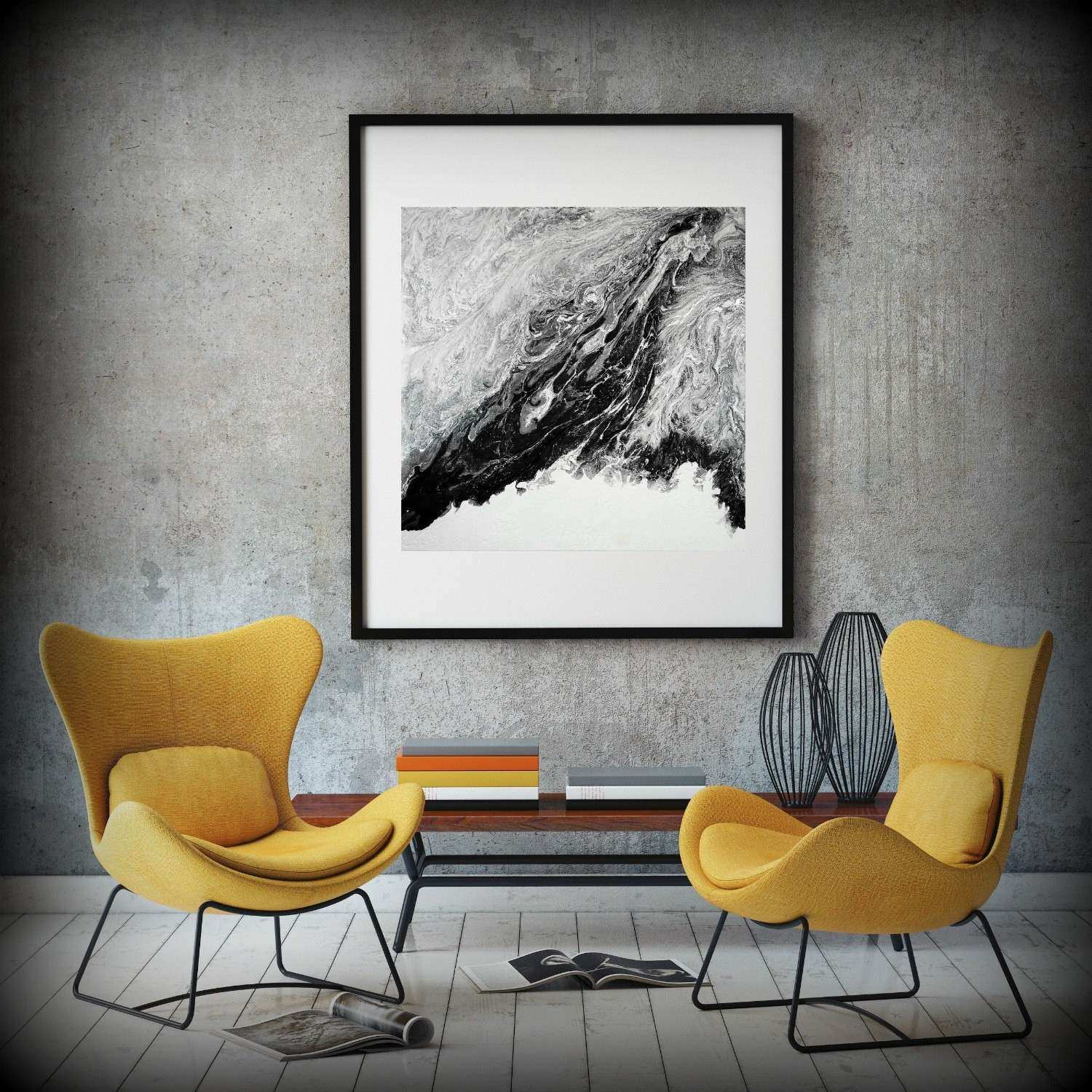 Extra Abstract Painting Print Abstract Canvas Print