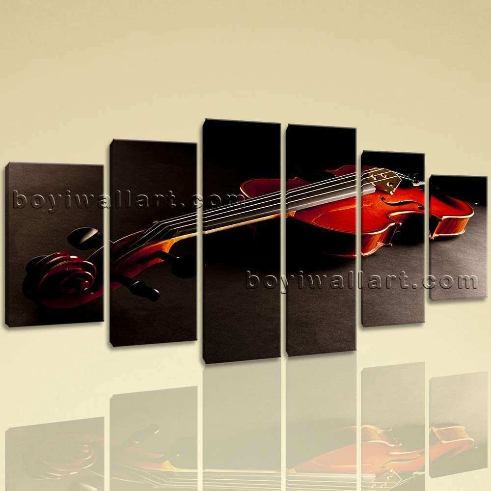 Extra Abstract Canvas Art Guitar Wall Dining Room 6
