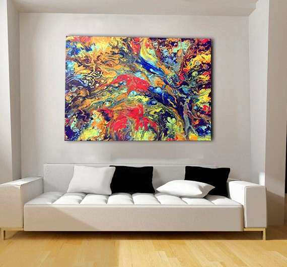 Extra Large Abstract Wall Art New Colorful Extra Canvas Oversized ...