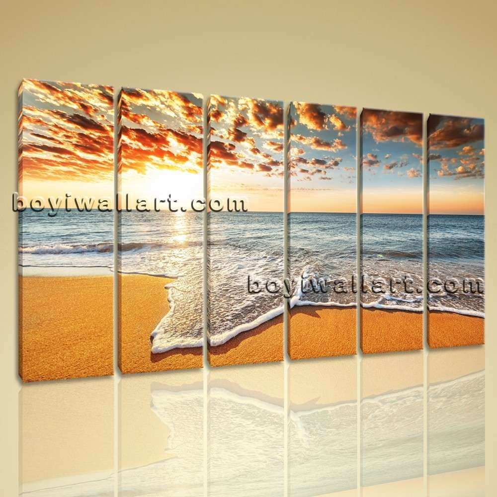 Extra Large Abstract Wall Art Unique Extra Hd Print Seascape Beach ...