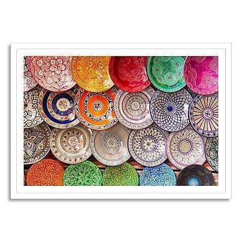 Colors of the Plates Extra Framed graphic Wall