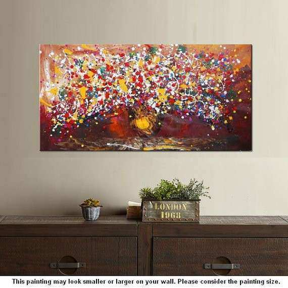 Extra Painting 24x48 Flower Oil Painting Canvas