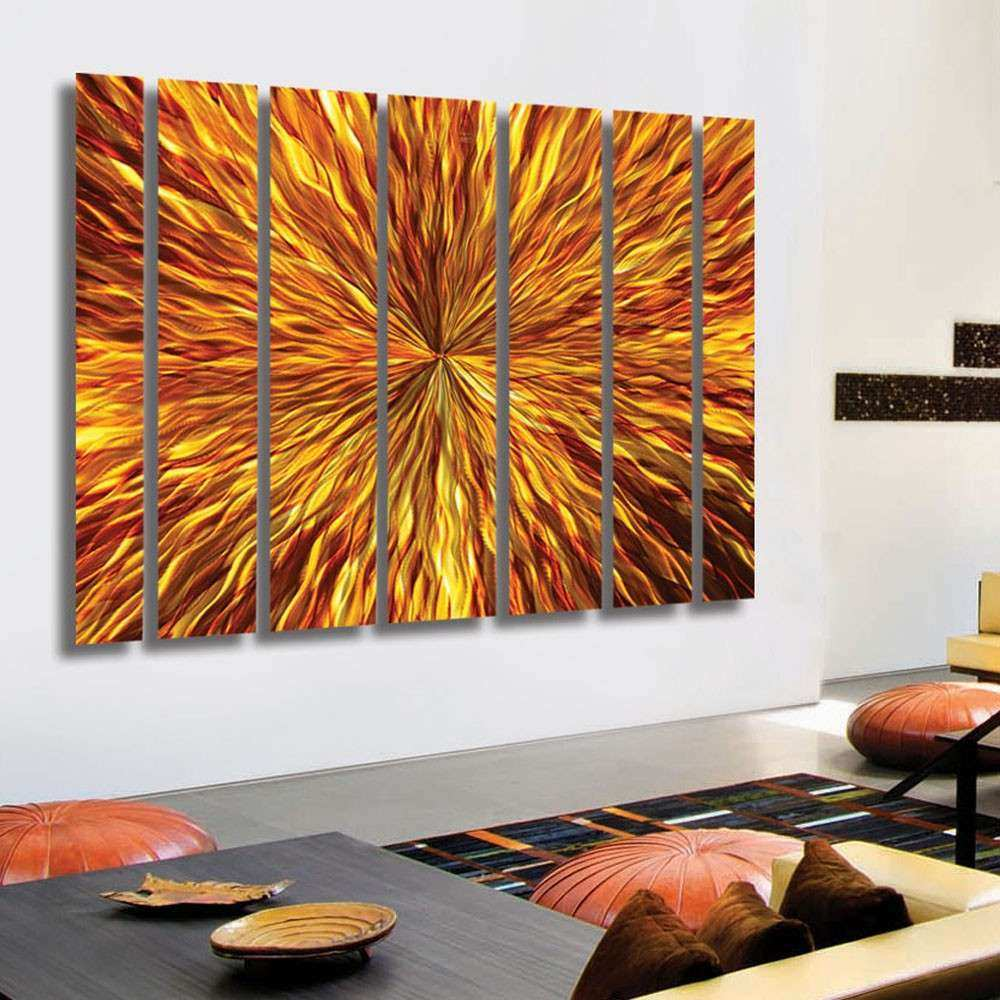 Extra Large Metal Wall Art Best Of Amber Vortex Xl Extra Modern Metal Wall Art by Jon