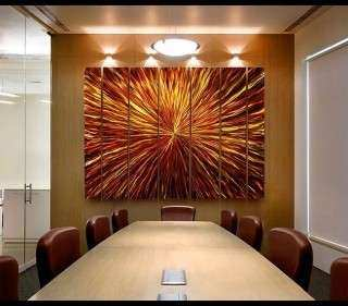 Wall Art Design Ideas Amber Vortex Big Metal Wall Art