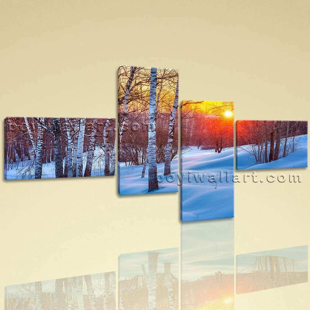 Extra Forest Path Sunset Canvas Art Wall Decor