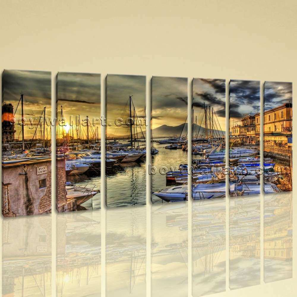 Extra Naples Italy Cityscape Canvas Wall Art Home