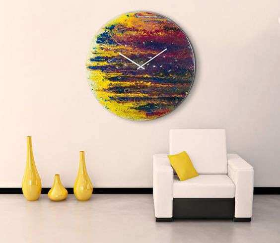 Extra wall clock Glass Art Oversized Circular