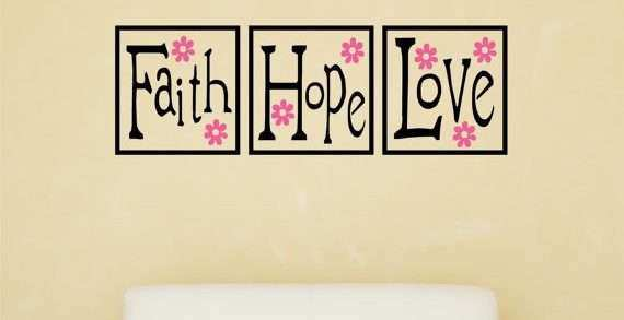 Faith Hope Love Wall Decor Awesome Items Similar to Faith Hope Love ...