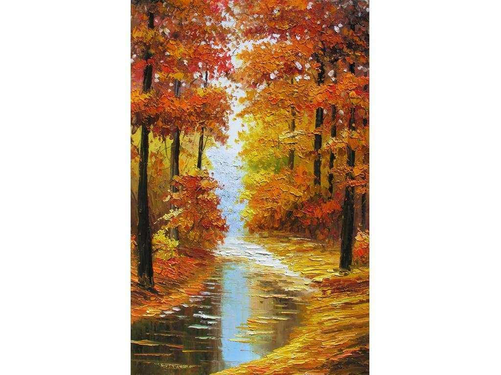 Print on canvas from Original painting Canadian Autumn