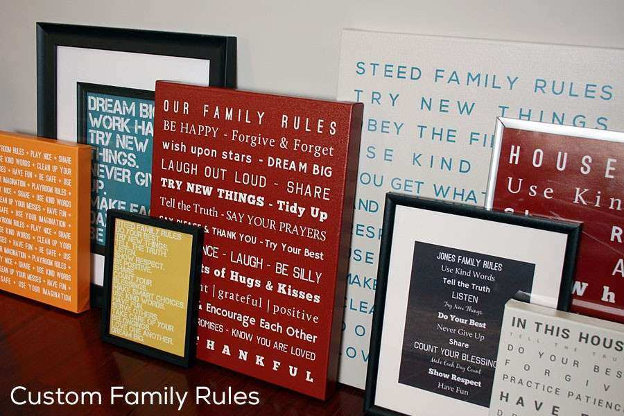 Family Canvas Wall Art personalized family canvas print