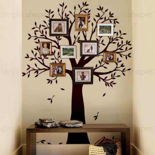 Family Tree Framed Wall Art Best Of Narrow Family Tree Decal Frame