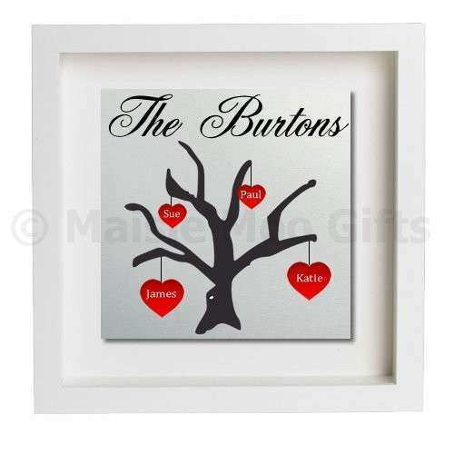 Family Tree Wall Art With Names personalised papercut