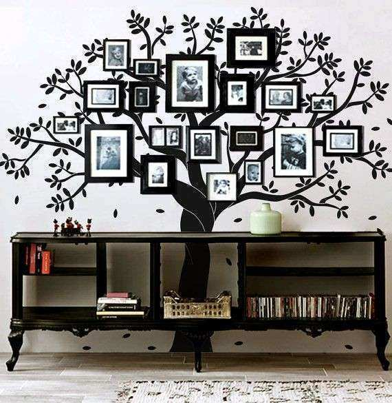 I love this Family tree wall decal photo frame tree by