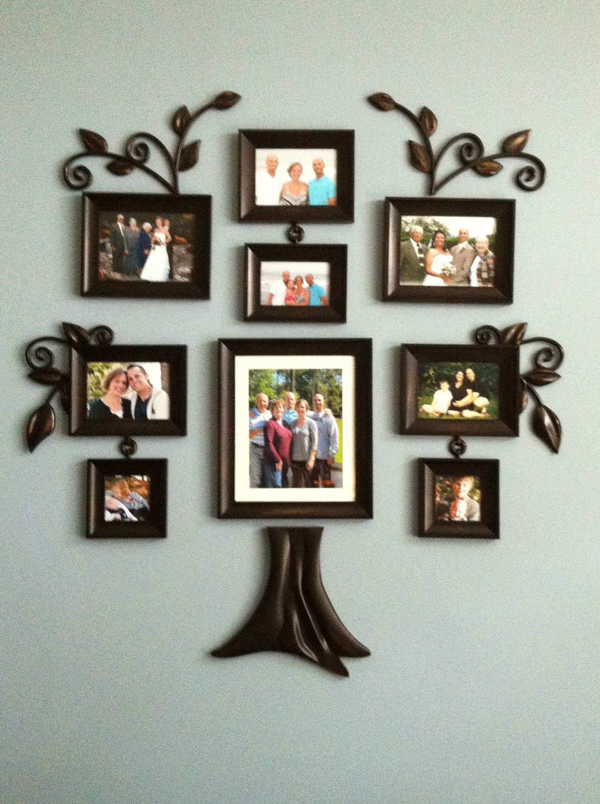 Family Tree Picture Frame Wall Beautiful Family Tree Made Simple ...