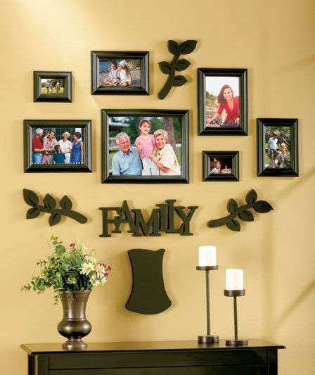 Family Tree Wall Art Picture Frame Luxury Black 12pc Multi Family ...