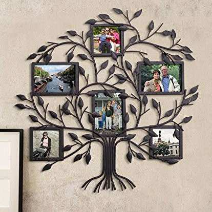 AdecoTrading 6 Opening Decorative Family Tree Wall Hanging