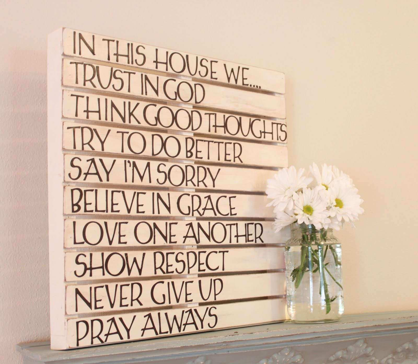 DIY Pallet Wall Art Love of Family & Home
