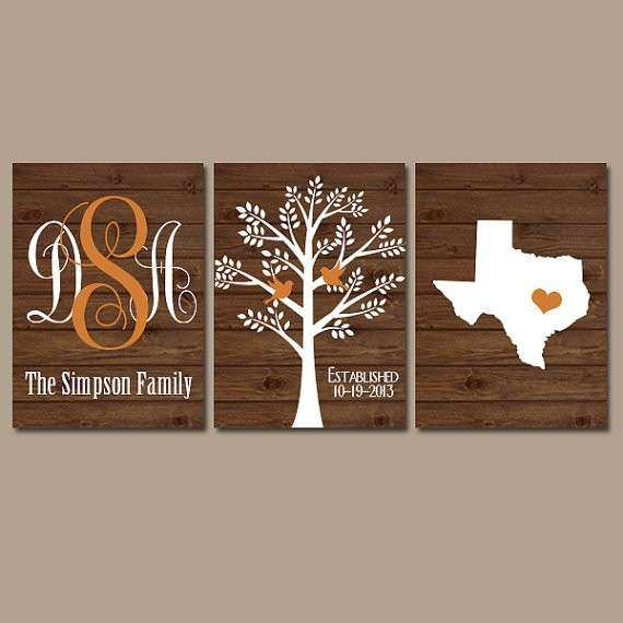 Family Wall Decor Luxury Family Tree Wall Art Personalized Monogram Canvas  Or Prints