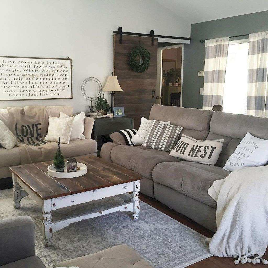 50 Rustic Farmhouse Living Room Design and Decoration