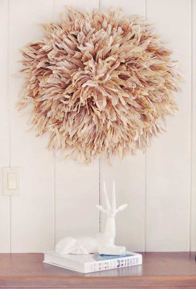 Very best Feathers Wall Decor Best Of Feather Wall Art Diy African Juju Hat  NB48