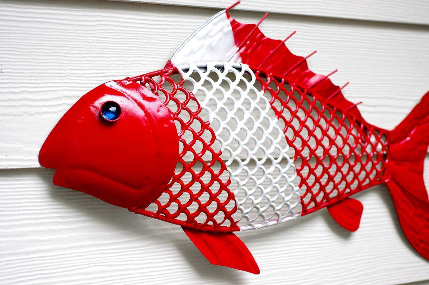 Nautical Wall Decor Metal Fish for the Scuba by