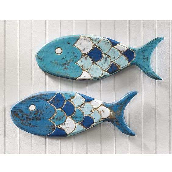 Fish Wall Decor For Bathroom Awesome 7 Wooden Fish Wall Decor Ideas For  Your Beach House