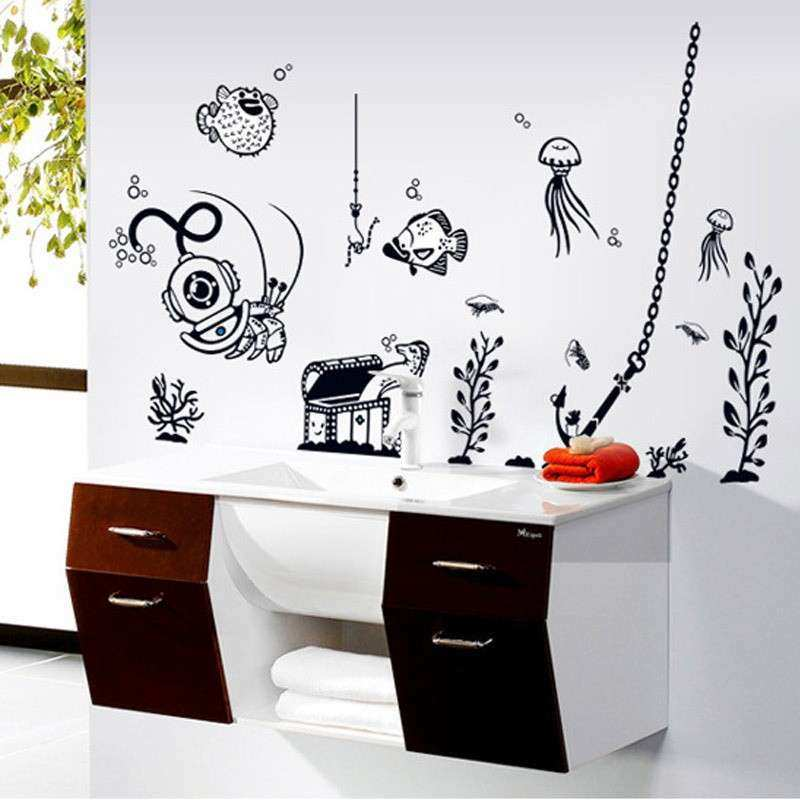 Under The Sea Fish Animal Decor Sticker Living Room