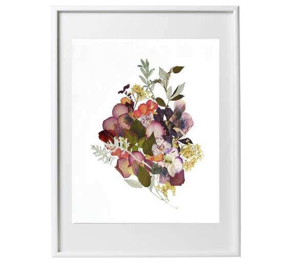 Floral Framed Wall Art Beautiful Items Similar To Framed Dried