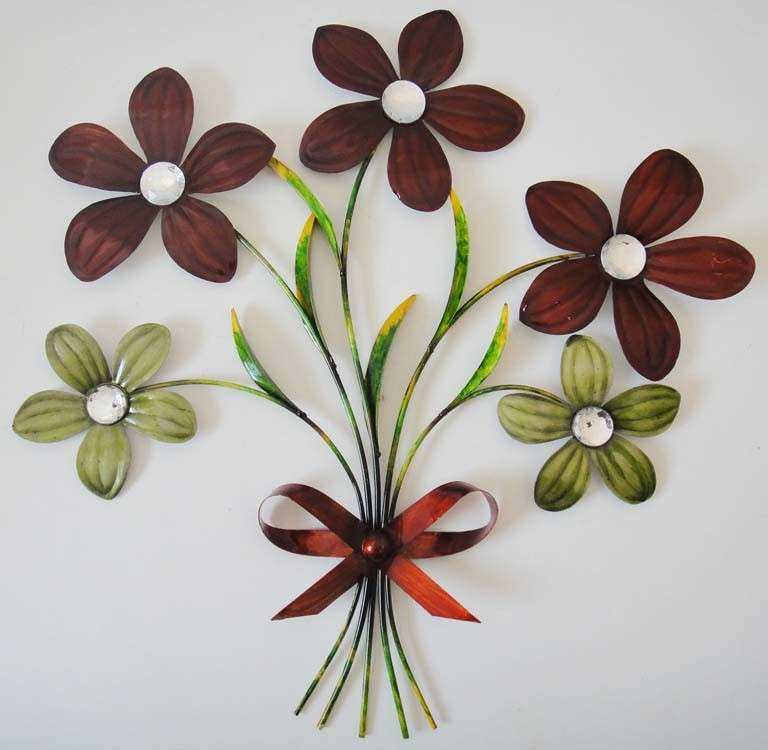 Floral Metal Wall Decor Best Of New Contemporary Metal Wall Art Decor Sculpture Red