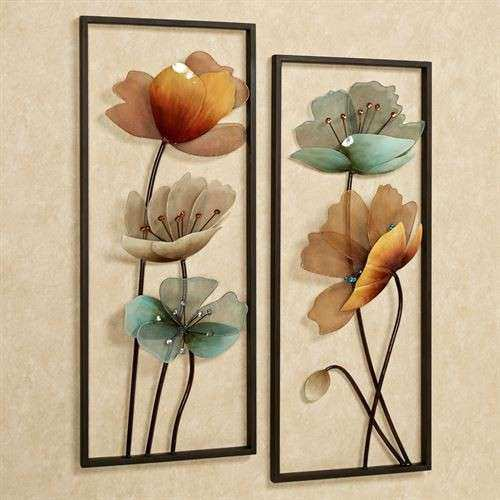 Floral Metal Wall Decor Best Of Tuscany In Bloom Floral Metal Wall Art Set