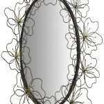 Floral Mirror Wall Decor Awesome Metal Entwined Flowers Decor Oval Wall Mirror Mnx271 Of Floral Mirror Wall Decor
