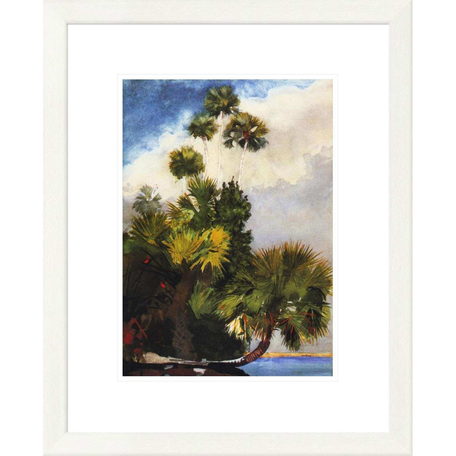 Palm Trees Florida By Winslow Homer 24 X 19 Inch Wall Art